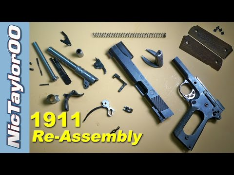 1911 embly (How to put it back together) - YouTube on
