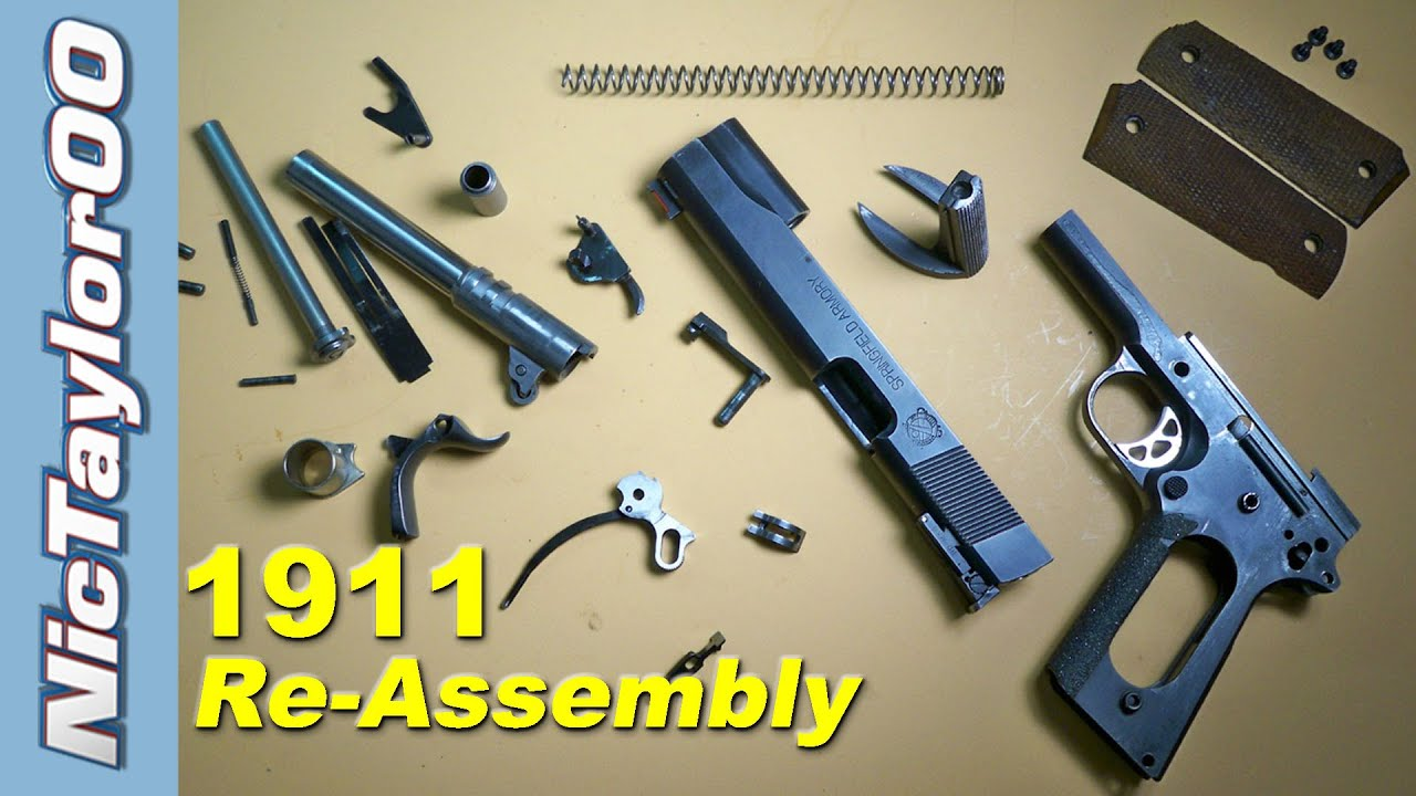 1911 assembly how to put it back together  [ 1280 x 720 Pixel ]