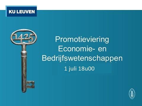 Promotie Economie- en Bedrijfswetenschappen