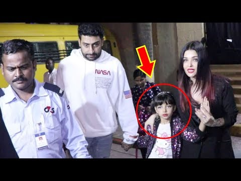 Aishwarya Rai Abhishek Bachchan PROTECT Aaradhya From CROWD Outside School