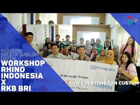 """Industri Kreatif  Sablon Digital """"Workshop Rhino Indonesia X  Rumah Kreatif BUMN BRI"""""""