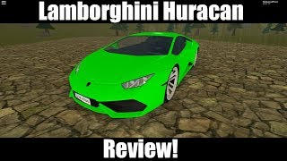 Lamborghini Huracan review in Vehicle Simulator (ROBLOX)