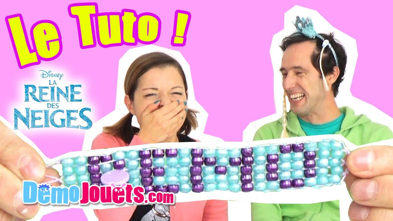 Tuto La Reine Des Neiges Disney Mon Metier A Tisser Demo Jouets
