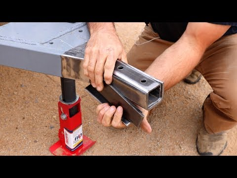 How To Build A DIY Travel Trailer - Coupler Install, Hitch, Sway Control (Part 7)