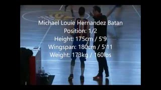 Michael Louie H. Batan Game Highlight Vs A.E. Beagur (March 13 2016)