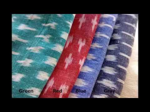 Ikat Fabric By The Yard - Designer Indian Handmade Fabrics
