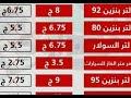 اسعار البنزين بعد الزياده الجديده اليوم الجمعة ٥ ٧ ٢٠١٩