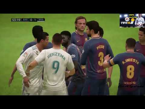 FC Barcelona vs Real Madrid - FIFA 18 Full Match Gameplay (PS4/XBOX ONE)   Fifa 18 Video