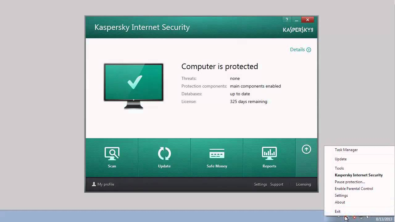 How to update anti-virus databases of Kaspersky Internet Security 2014