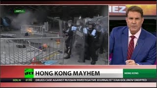 Hong Kong Government Offices Close Amid Violence