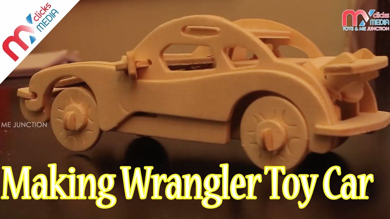 Kids wood craft kits - Kids Making Wrangler Toy Car Kid Toys Cars Woodcraft Construction Kit