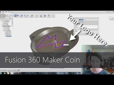 Fusion 360 For Beginners - Design And 3D Print A Maker Coin! CAD For Newbies