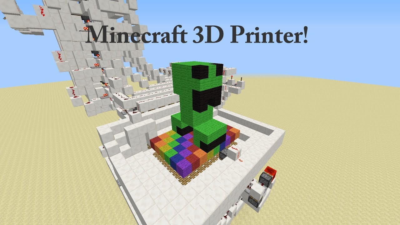 3D Printer With 9 Colors - Minecraft Invention - YouTube