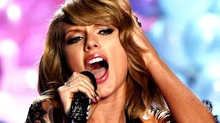 Taylor Swift Lip Syncs At Victoria
