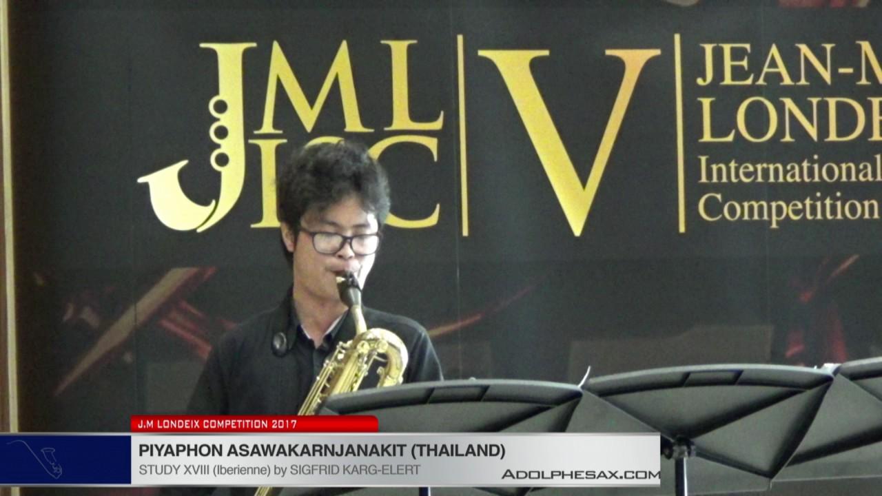 Londeix 2017 - Piyaphon Asawakarnjanakit (Thailand) - XVIII Iberienne by Sigfrid Karg Elert