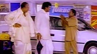 Sneham kosam movie|| chiranjeevi ,gundu hanmantha rao comedy  at car showroom