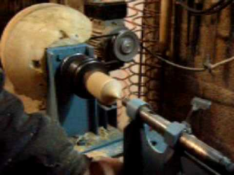 Homemade wood lathe tornio home made tornio per legno for Youtube tornio