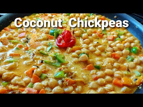How To Make Coconut Chickpeas Stewed || Coconut Recipe ||Chickpeas Recipe