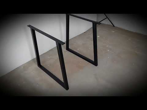 Trapezoid Steel table legs. Perfect for Your DIY project!