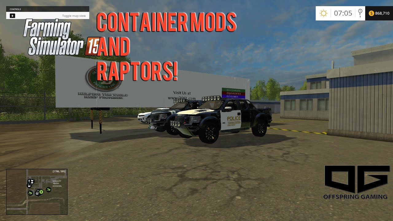 Farming Simulator 2015 Mods- Raptor, Container Mods, and More! - YouTube