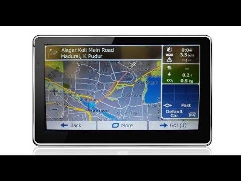 Best INDIA - Car GPS Navigation - System - Sample Video - YouTube