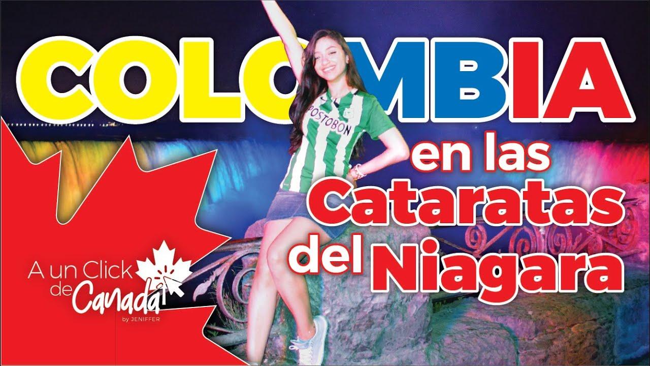 Así se vivió la Independencia Colombiana en las Cataratas del Niagara (Canadá 🇨🇦 2020)