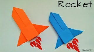 Origami: Rocket - How to Make a Paper Rocket Launcher/Spaceship - Easy Origami Rocket Instructions