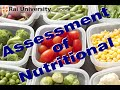 Assessment of nutritional status – Child Nutrition