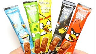 Lollipop Angry Birds Choco Lolly - German Candy