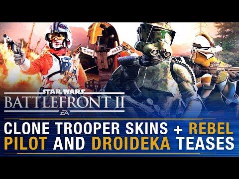 Clone Trooper Skins + REBEL Pilot & Droideka Teases + August Update Details  | Battlefront Update