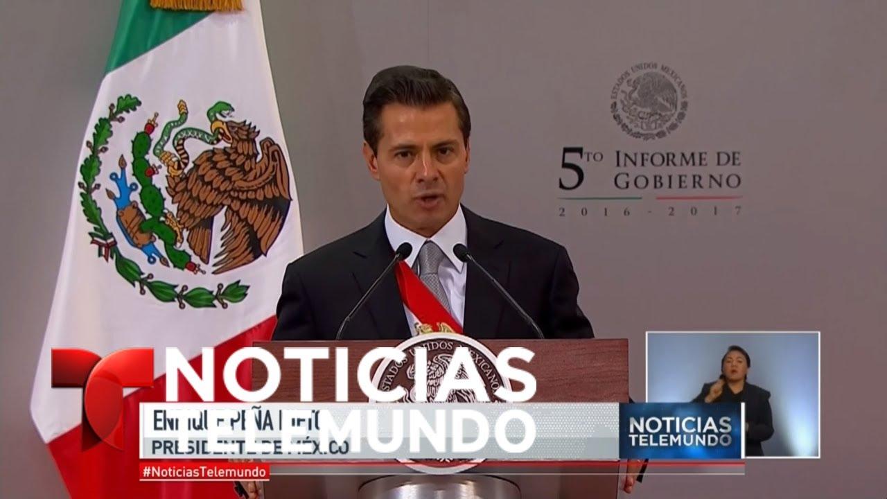 Peña Nieto rindió cuentas: economía creció, inseguridad también | Noticiero | Noticias Telemundo