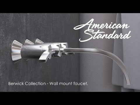 American Standard's Berwick Wall-Mount Faucet Enhances Any Bathroom Décor