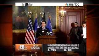 Gov. Scott Walker (R) Violated Ethics, Labor, and Election Laws? (Feb 23, 2011 - msnbc)