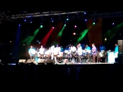 Andy Narell and the Pan Allstars at the Pure Grenada Music Festival