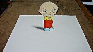 Drawing Stewie Griffin in 3D!
