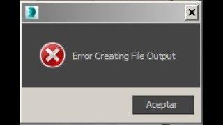 3D max   Solucion a Error Creating File Output