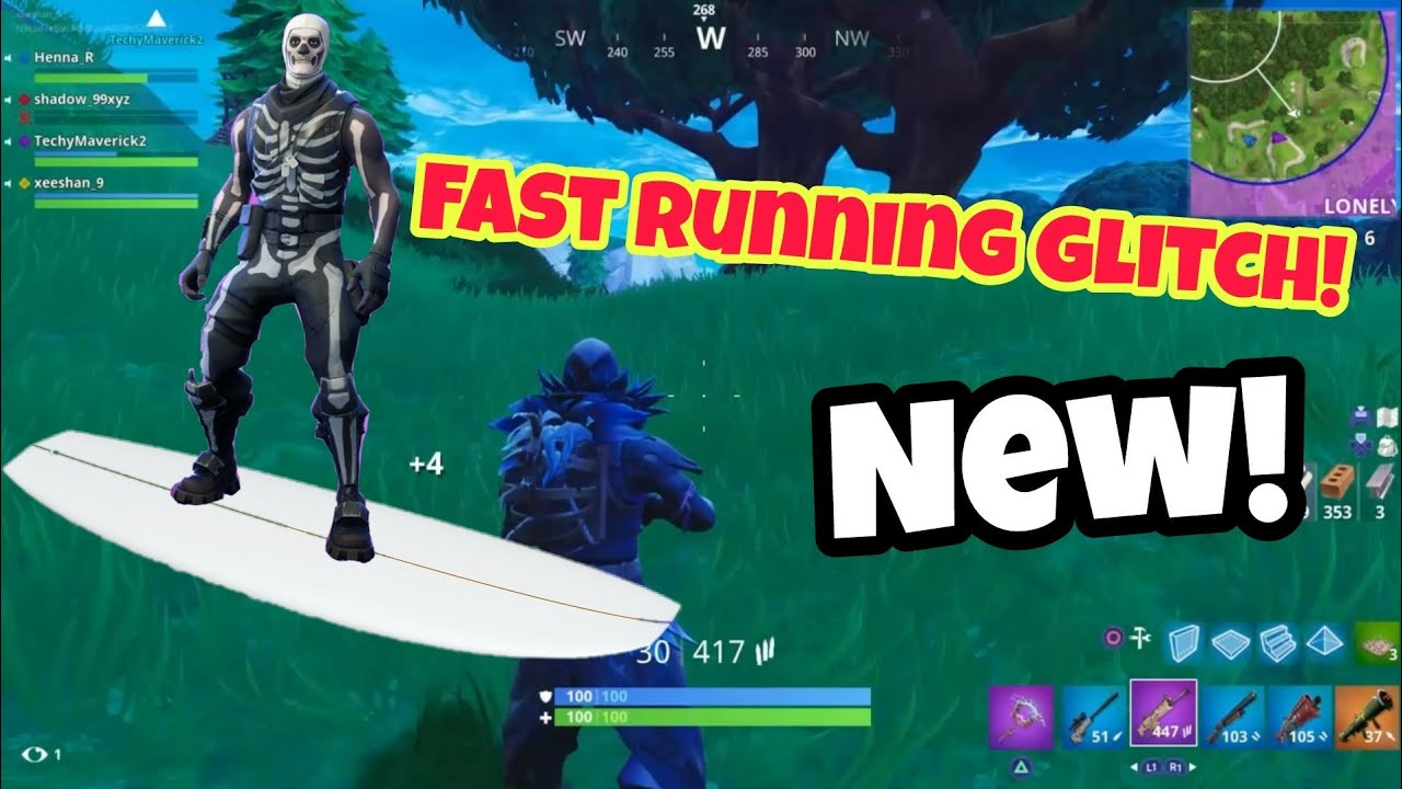 fortnite battle royale glitch new fast running ps4 xbox one 2018 - how to run faster in fortnite xbox one
