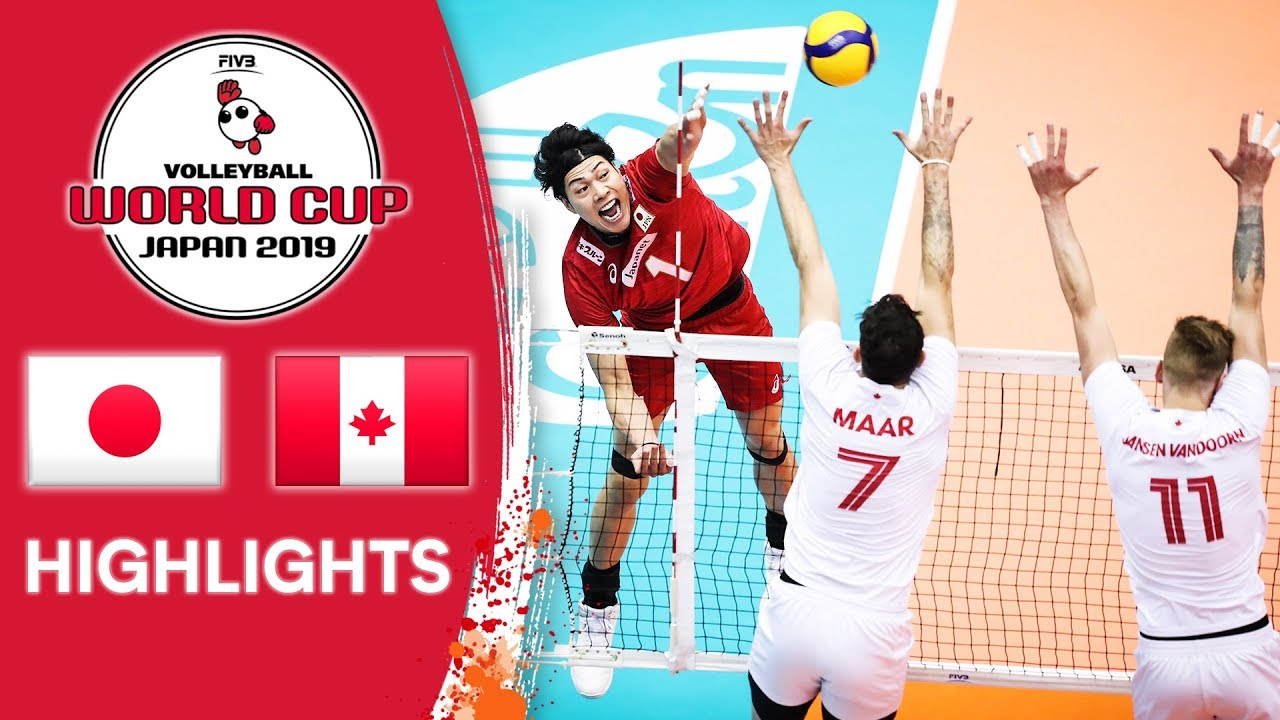 Japan Vs Canada Highlights Men S Volleyball World Cup 2019 Youtube