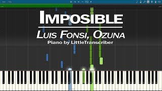 Luis Fonsi, Ozuna - Imposible (Piano Cover) Synthesia Tutorial by LittleTranscriber
