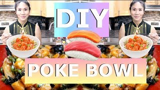 DIY How to make Sushi Poke Bowl