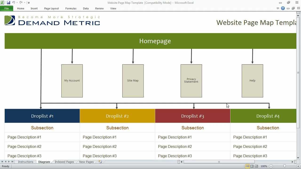 website page mapping template youtube