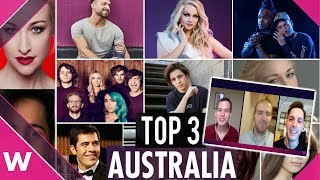 Australia Decides: Our Top 3 for Eurovision 2019