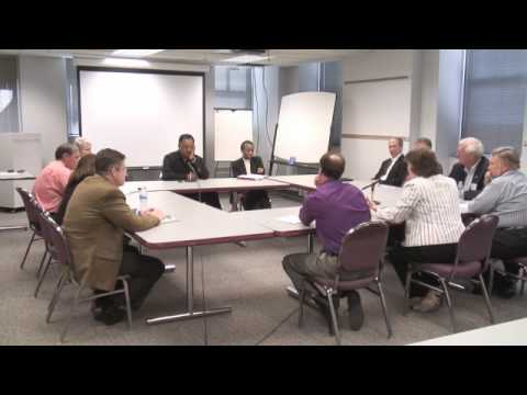 Jesse Jackson visits Rockford Register Star Editorial Board part 2 of 7