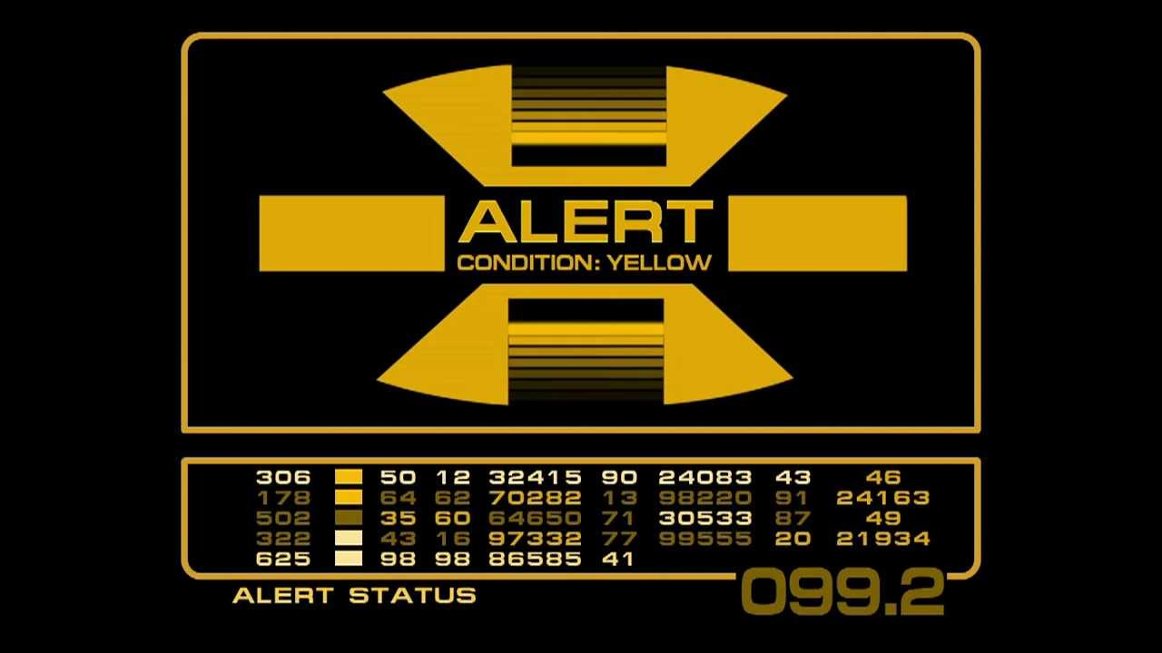 Alert Screens 23rd Century Lcars Youtube