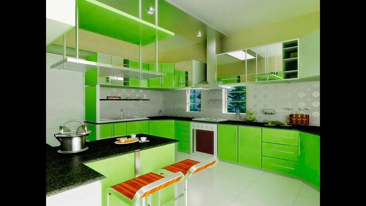 Desain Warna Dapur Hijau Sejuk Dan Keren Youtube