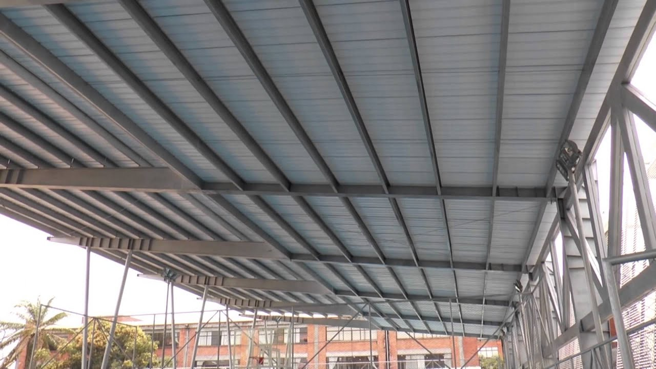 Donaci n de cubiertas liviana colegio t cnico for Cubiertas para techos livianas