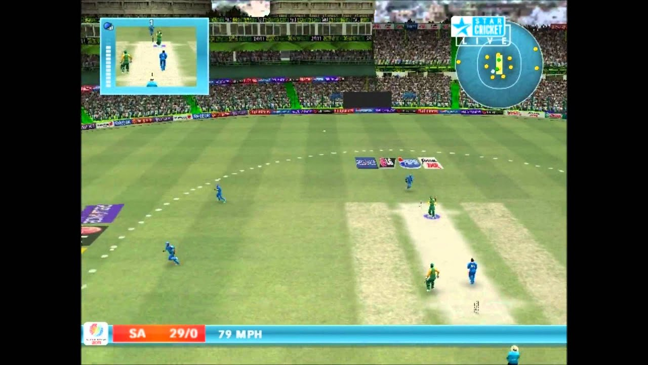 cricket 2007 with a2 studios world cup 2011 patch batting youtube
