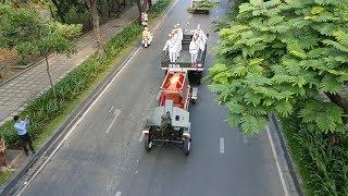 Đoàn xe tang, tiêu binh tiễn đưa cố thủ tướng Phan Văn Khải về nơi an nghỉ ở Củ Chi