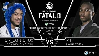 Mortal Kombat X CR_SONICFOX (Erron Black) vs MIT (Scorpion) Fatal 8 Grand Final