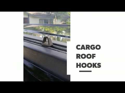 Hummer H3, how to install a cargo roof hook.